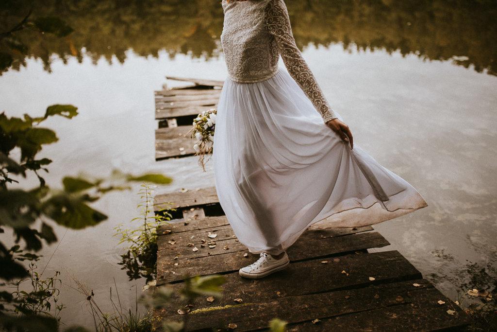 spódnica do ślubu plenerowego