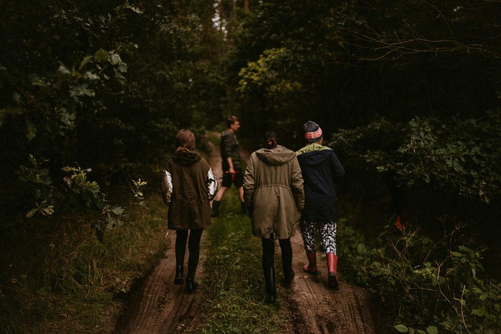 wyprawa do lasu na mazurach