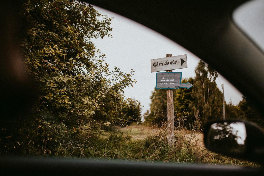glendoria camp spa tabliczki drogowskazy jak dojechać