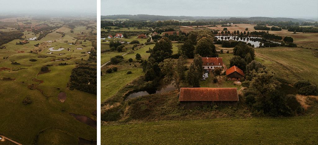 mazury z powietrza dron wesele plenerowe w stodole mazury nowe kawkowo pytlikbak fotografia