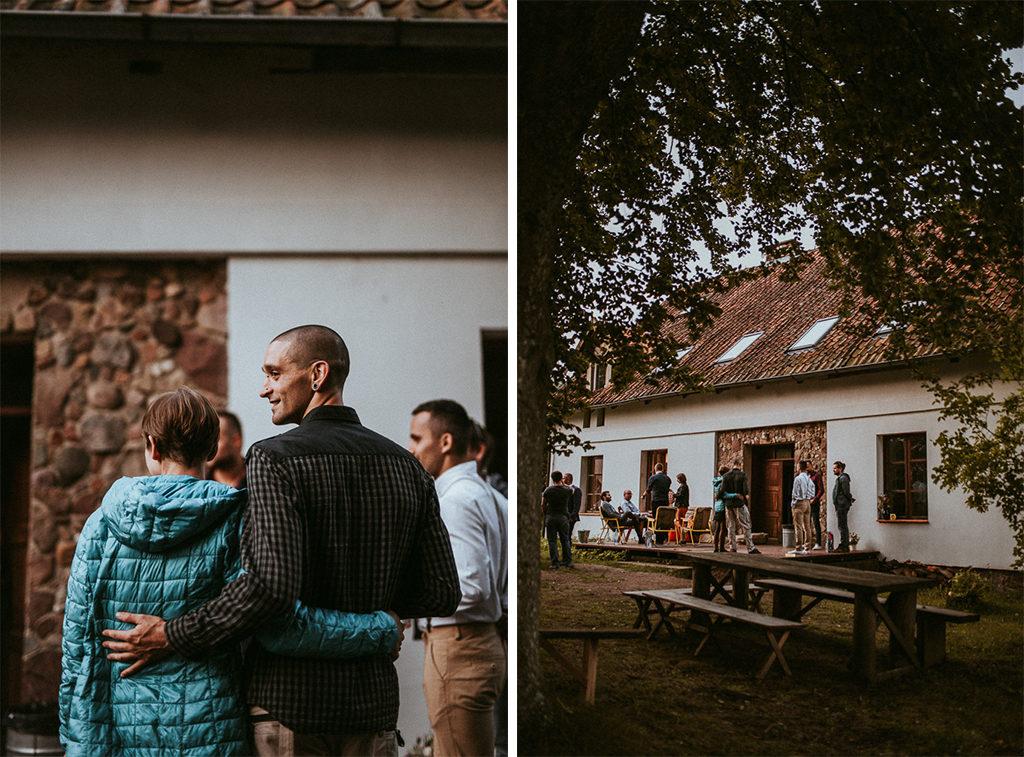 goście na weselu plenerowym w nowym kawkowie na Mazurach