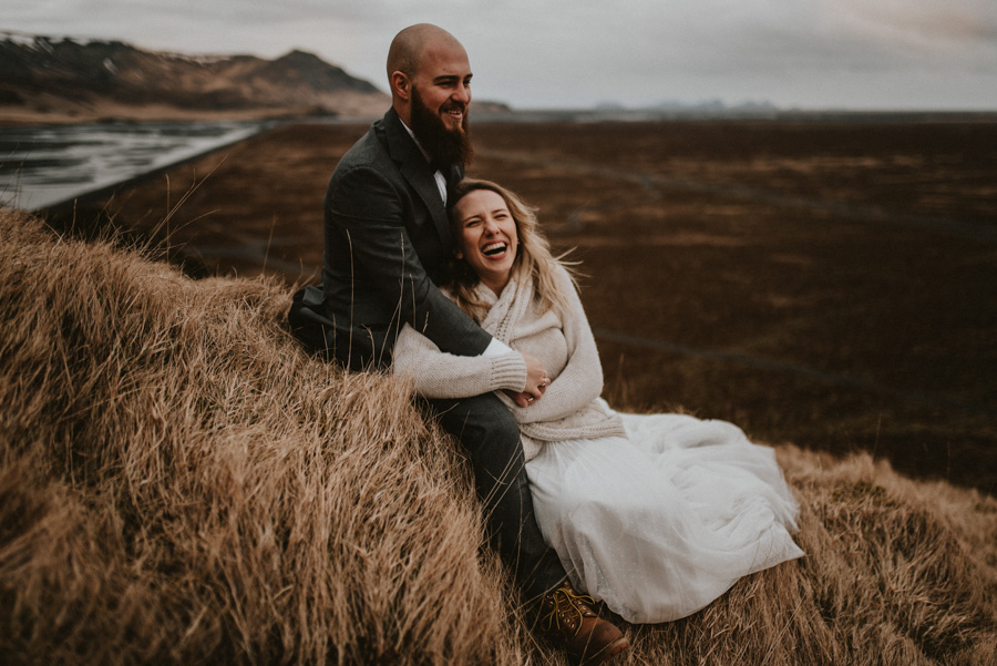 Sesja plenerowa islandia podróż poślubna skandynawia pytlikbak VIK i Myrdal