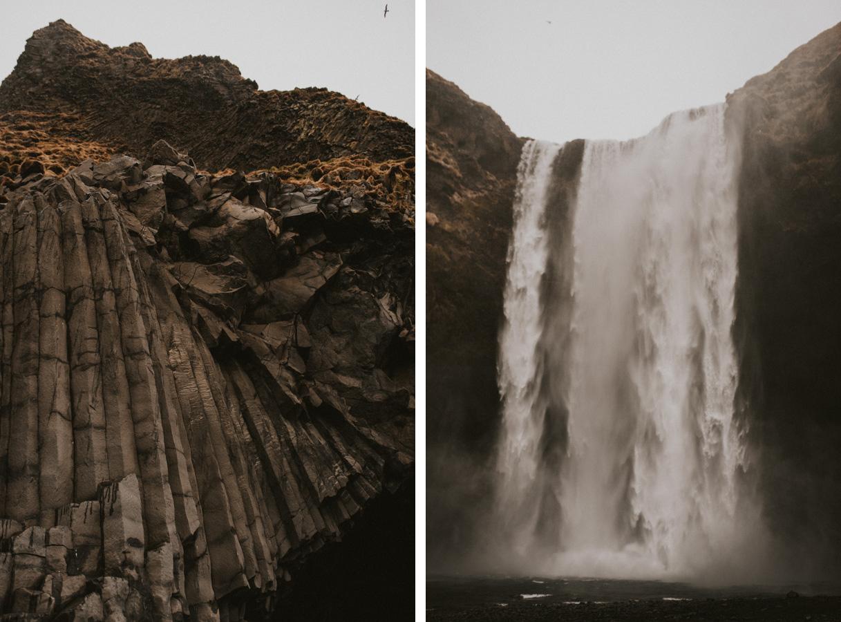 reynisfjara skogafoss wodospad czarna plaża islandia