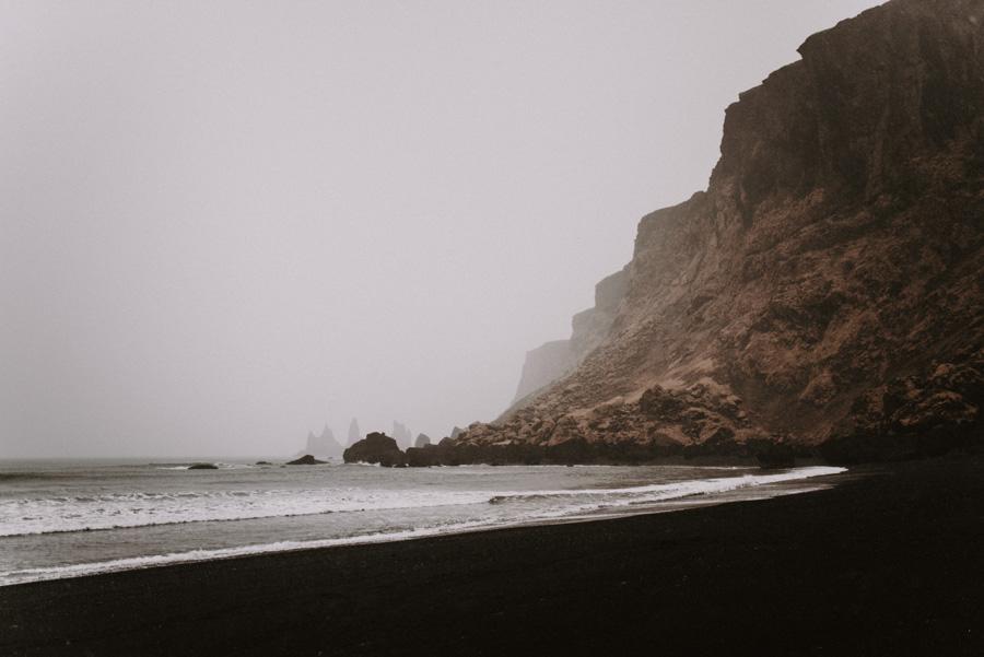 reynisfjara beach czarna plaża islandia