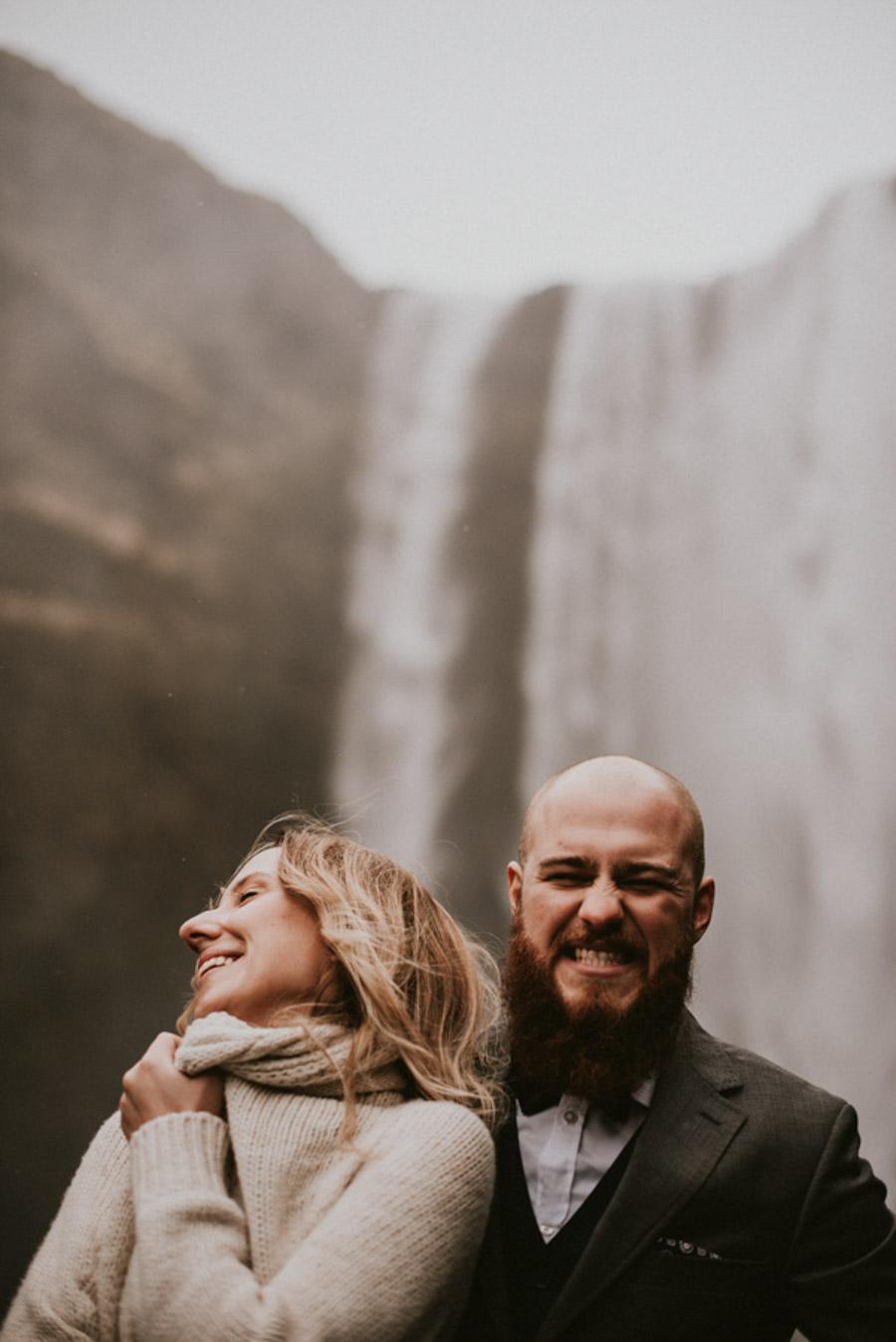 skogafoss wodospad Sesja plenerowa islandia podróż poślubna skandynawia pytlikbak