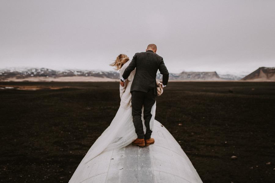 dacota dc3 plane wrack samolot Sesja plenerowa islandia podróż poślubna skandynawia pytlikbak