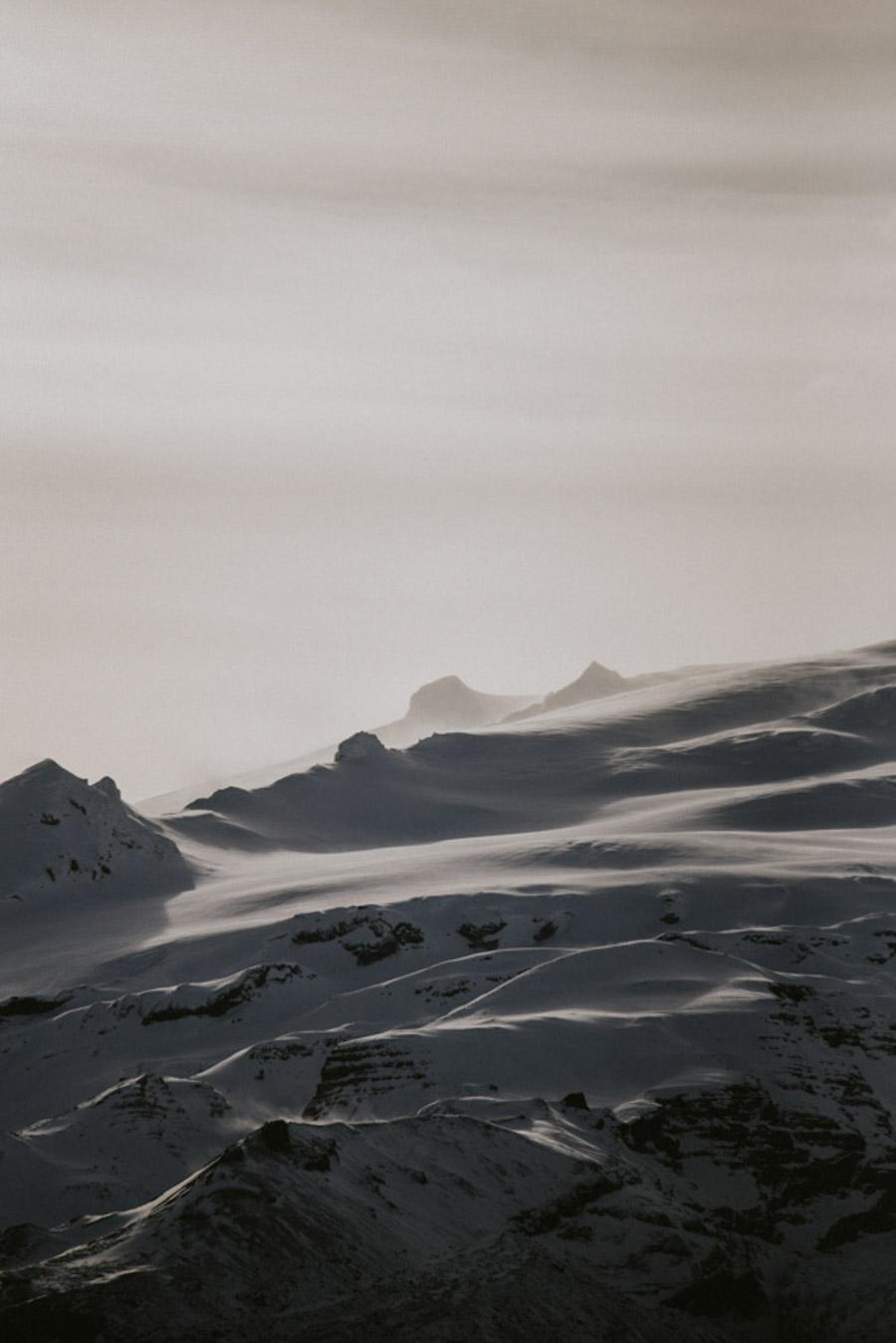 góry na Islandii pejzaż