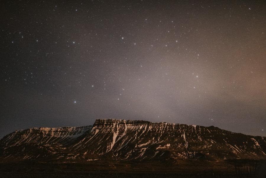 gwieździste niebo nad górami Sesja plenerowa islandia podróż poślubna skandynawia pytlikbak