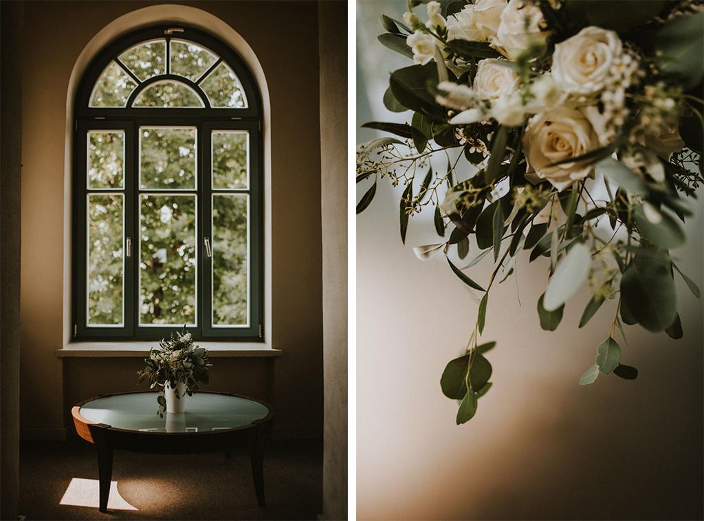 Ślub w Dolinie Cedronu dekoracja wnętrza kwiaty bukiet Kraków Leńcze pytlikbak