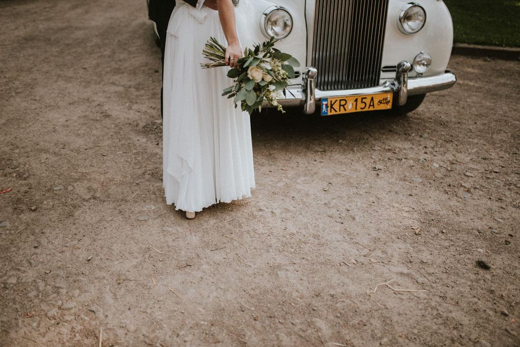 stary zabytkowy samochód rolls royce Ślub w Dolinie Cedronu Kraków Leńcze pytlikbak