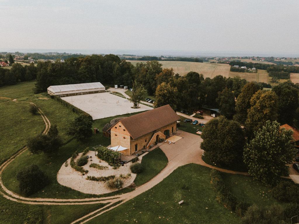 Ślub w Dolinie Cedronu spichlerz z Drona Kraków Leńcze z powietrza pytlikbak