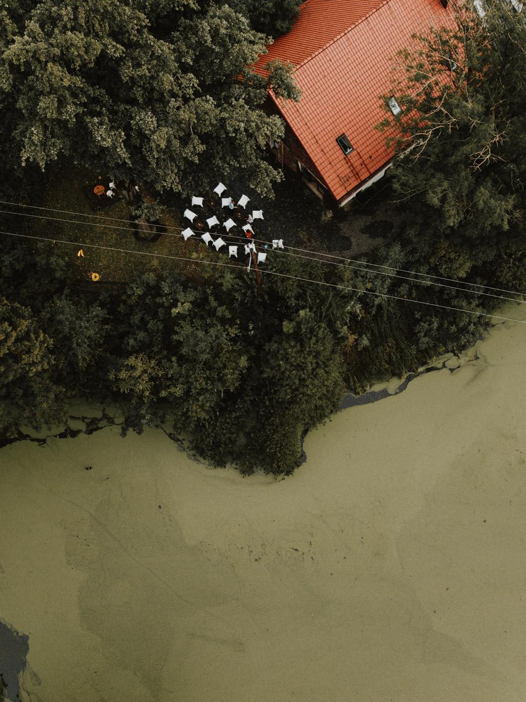 kotulińskiego 6 z drona k6 z powietrza stara gorzelnia przy jeziorze