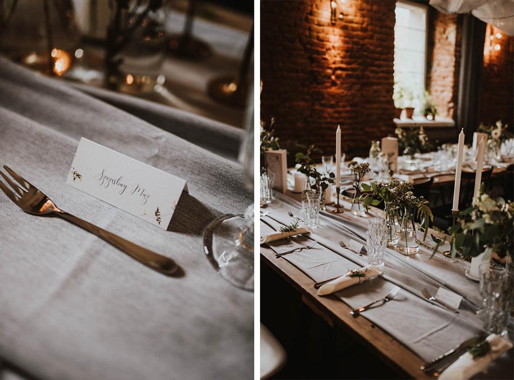 detale ślubne na stole w kotulińskiego 6 k6 rozmaryn wesele