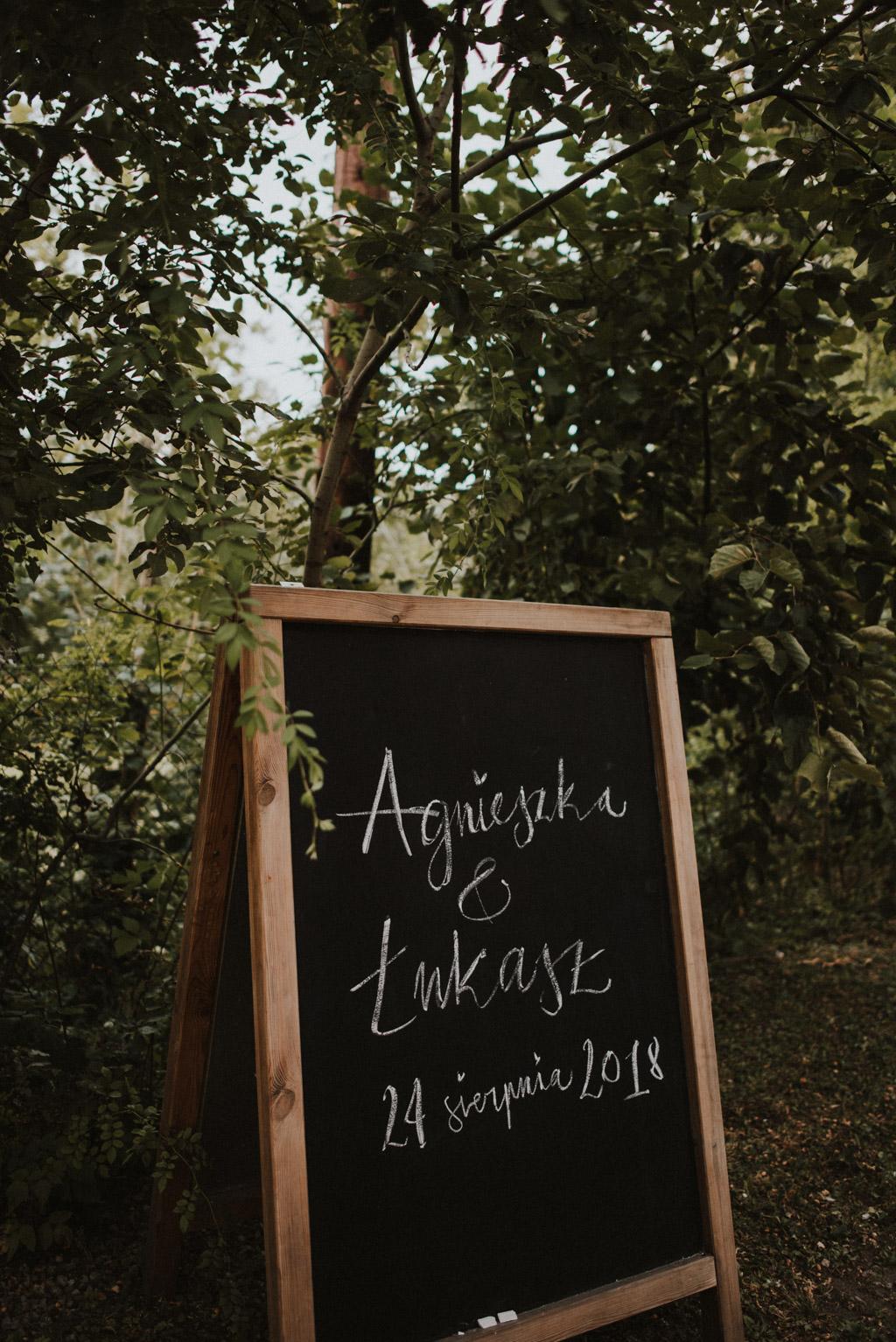 tablica informacyjna na weselu w bielsku białej kotulińskiego 6 k6