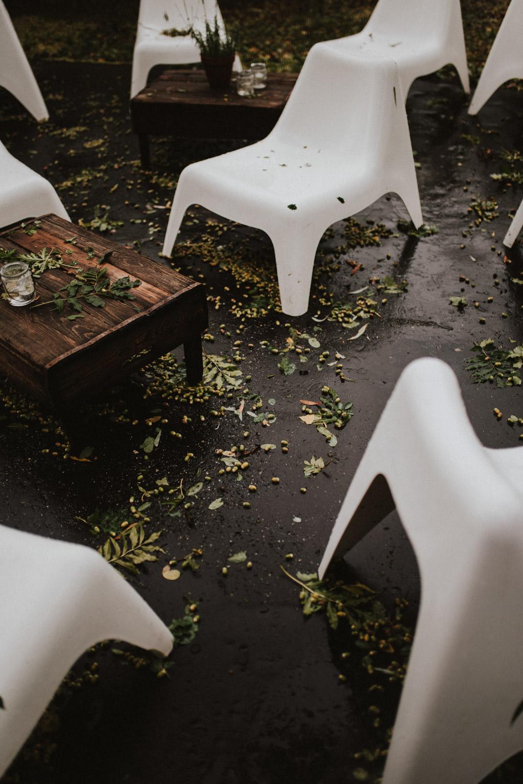 Kotulińskiego 6 podczas deszczu