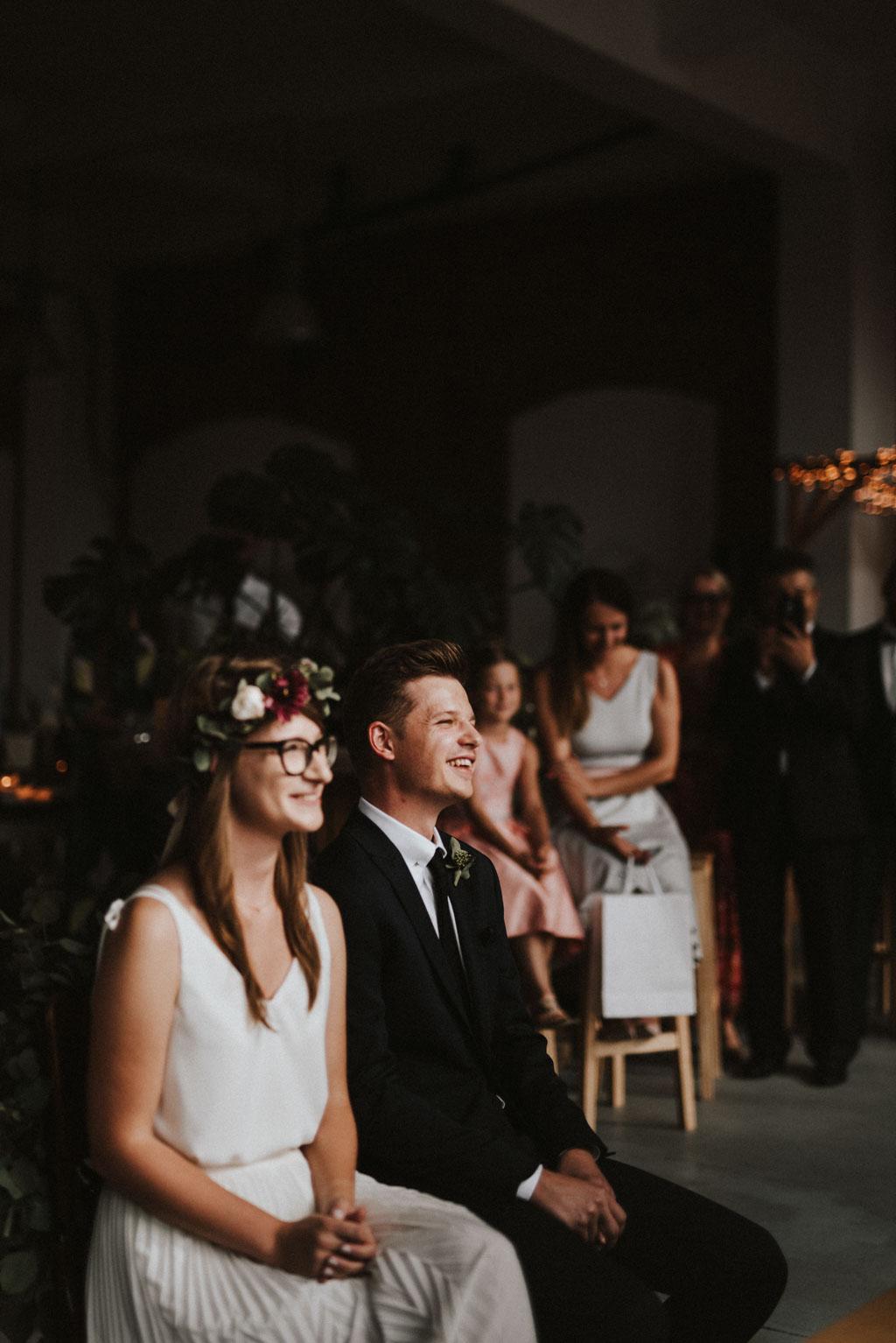 ślub cywilny tektura boho łódź industrialne wesele