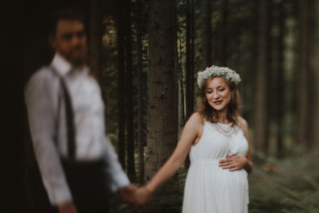 sesja rodzinna w lesie sesja ciążowa pytlikbak