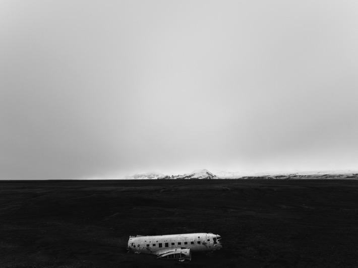 Pytlikbak islandia podróż sesja wrak samolotu Dakota DC 3
