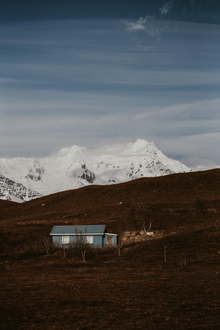 Iceland landscapes domy na islandii