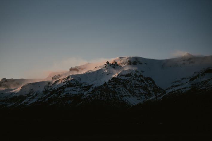 icelandic landscapes natura na islandii góry szczyty zachód słońca