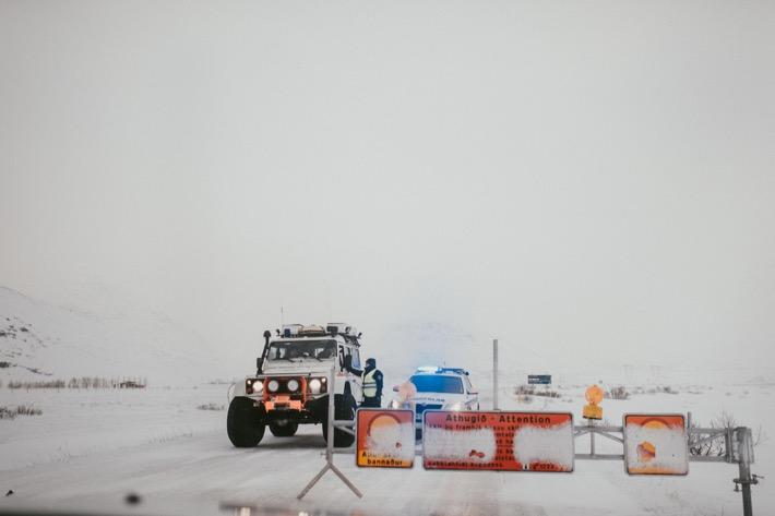 islandia zamknięte drogi śnieżyca