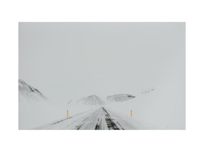 icelandic ring road 1 winter śnieżyca islandia