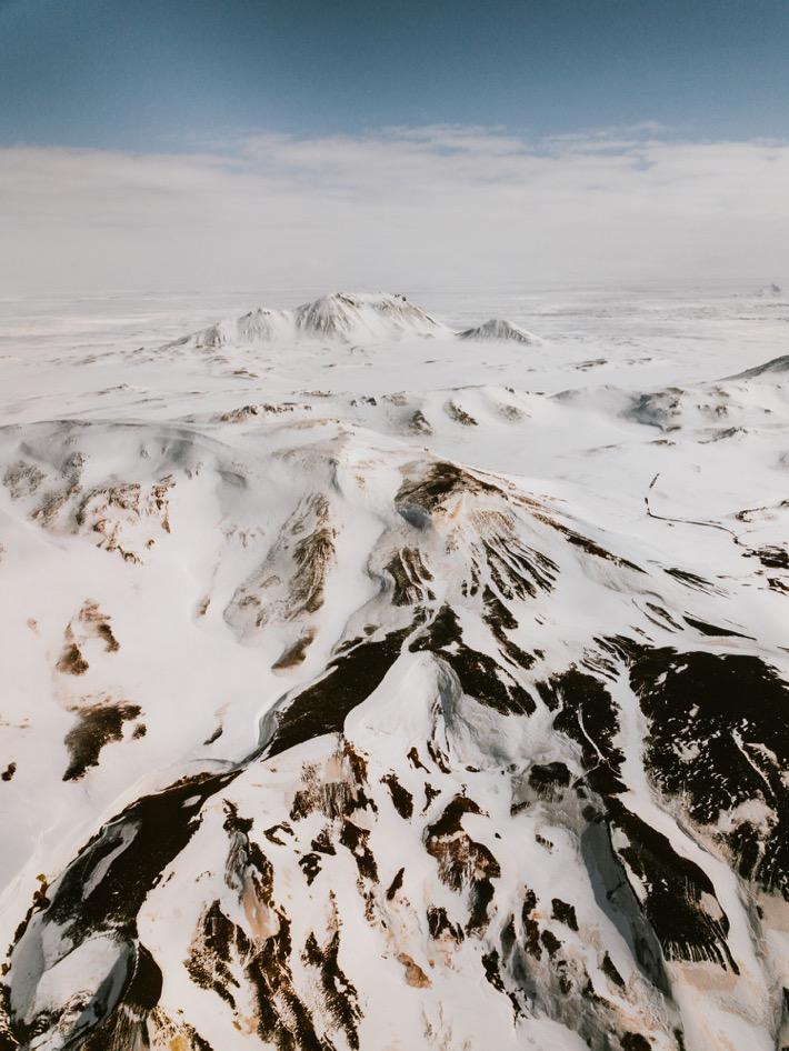 Namafjall Krafla pola geotermalne pytlikbak drone mavic