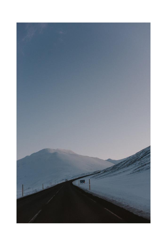 Drogi na islandii północnej zimą