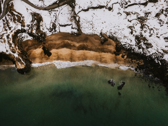 Skarðsvík beach plaża drone
