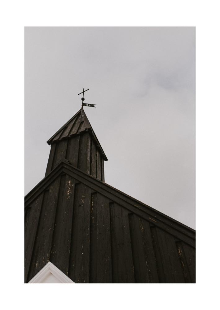 Budir church black czarny kościół islandia