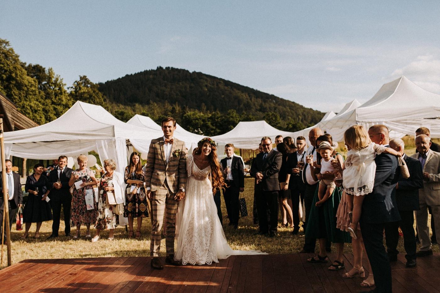jaworze nałęże wesele pod namiotami w górach