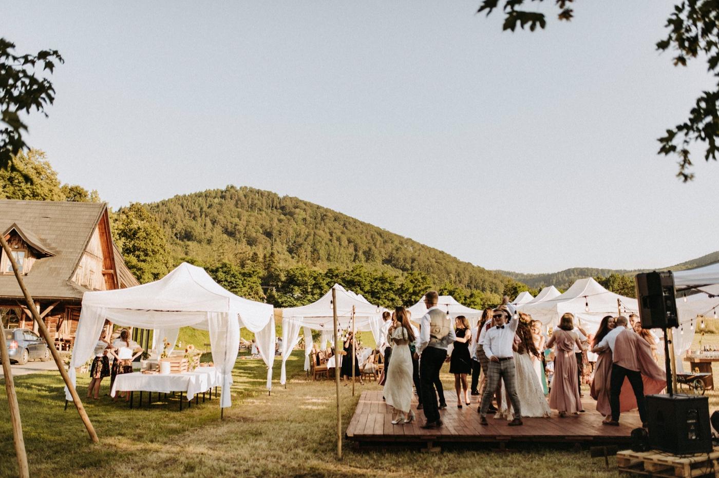 wesele pod namiotami w górach jaworze nałęże